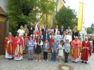 Die Firmlinge aus der Pfarrei St. Peter und Paul Beratzhausen. (Fotos: Reinhard Seidl)