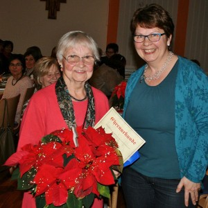 Ehrenmitglied Margarete Wein mit der 2. Vorsitzenden Evi Pauthner. (Fotos: Ingrid Kroboth)