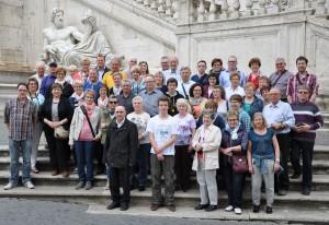 Die Pilgergruppe vor dem Rathaus in Rom. Fotos: Markus Bauer