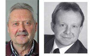 Links der neue Kirchenpfleger Georg Beer, rechts das neue Mitglied der Kirchenverwaltung Thomas Rutz. Fotos: Markus Bauer/privat